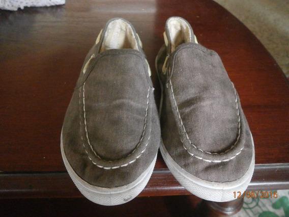 5v Zapatos De Tela Suela De Goma Para Niños