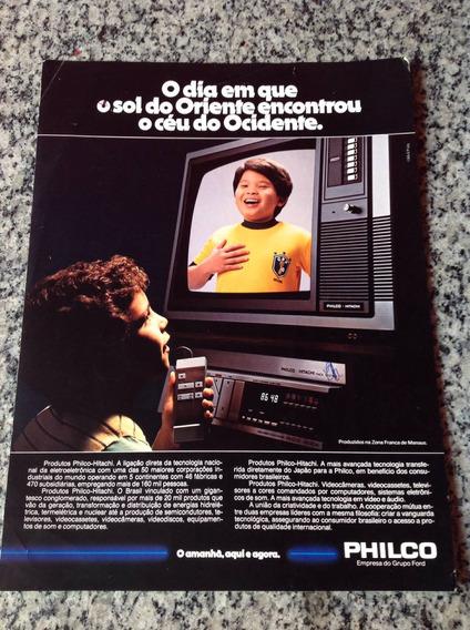 Folheto Encarte Propaganda Antigo Tvtelevisor Philco Anos 80
