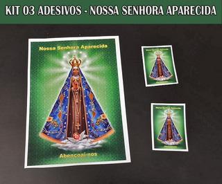 Nossa Senhora Aparecida - Kit Com 03 Adesivos - 02 Tamanhos