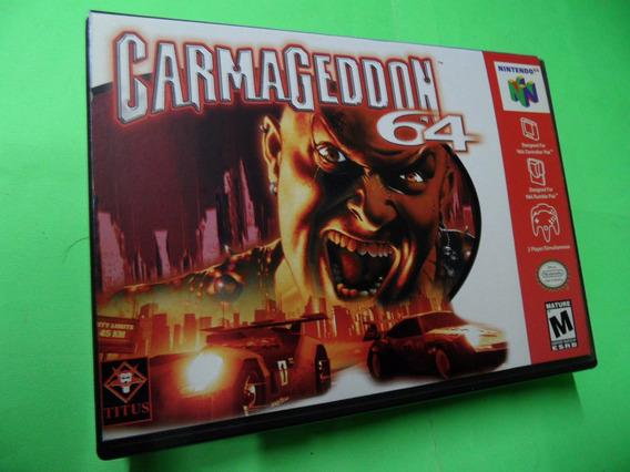 Carmageddon 64 Original Com Caixa Cortada Nintendo 64 N64