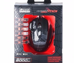 Mouse Gamer Spider Venom Om704 Preto Fortrek