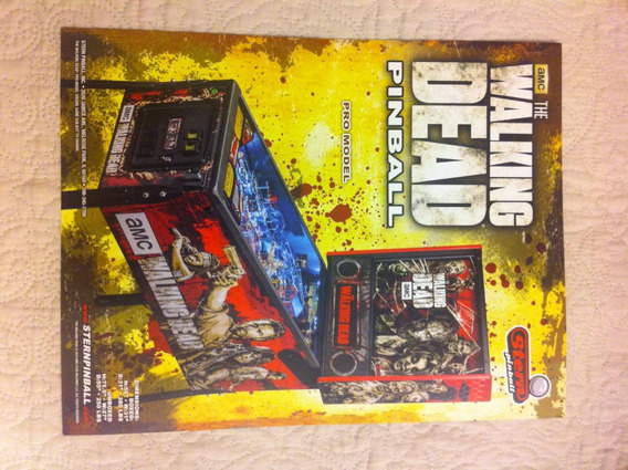 Flyer Pinball Stern The Walking Dead (finotti)