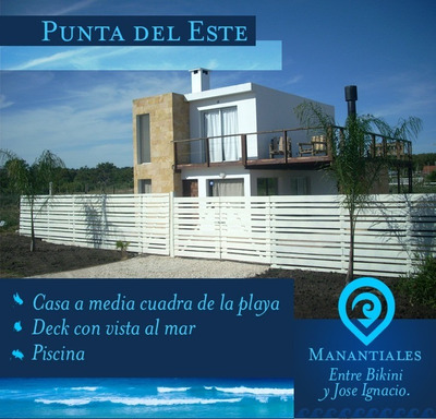 Alquiler Casa Punta Del Este - La Barra Piscina Vista Al Mar