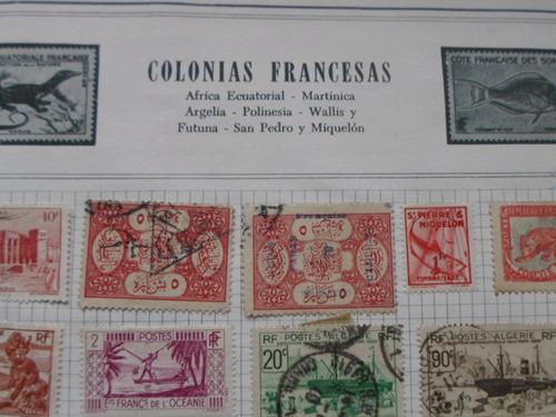 Estampillas De Colonias Francesas Algunas Muy Antiguas