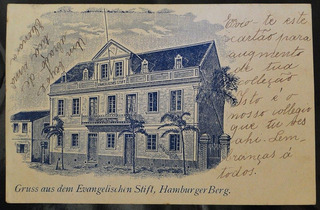 Cartão Postal Antigo Escola Evangélica Nova Hamburgo Rs 1906