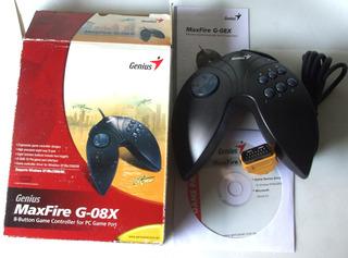 Joystick Genius Maxfire G-08x Gamepad Gameport Completo