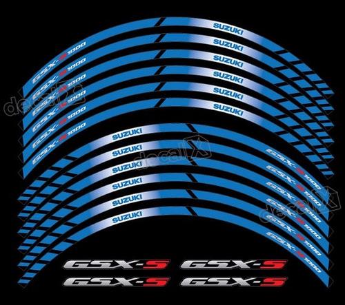 Kit Adesivo Friso Refletivo Roda Moto Suzuki Gsx-s 1000