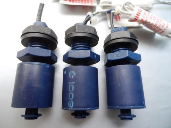 3 Sensores De Nível Água Vertical Original Eicos Lc26m-40