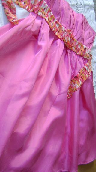 Vestido Chocolate Rosa Dior-strapless-talle Small-impecabl