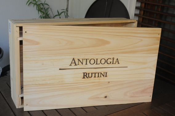 Caja Rutini Antologia De Madera (vacia) 100% Originales