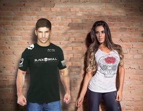 Camiseta Black Skull + Regata Carol Saraiva - Black Skull