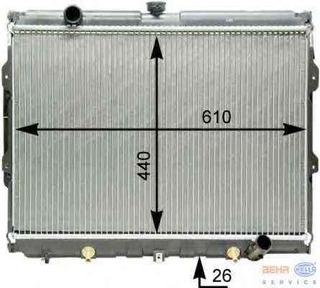 Radiador Hyundai Galloper 2.5 1991 Até 1999 Diesel