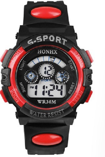 Reloj Digital Honhx Color Rojo