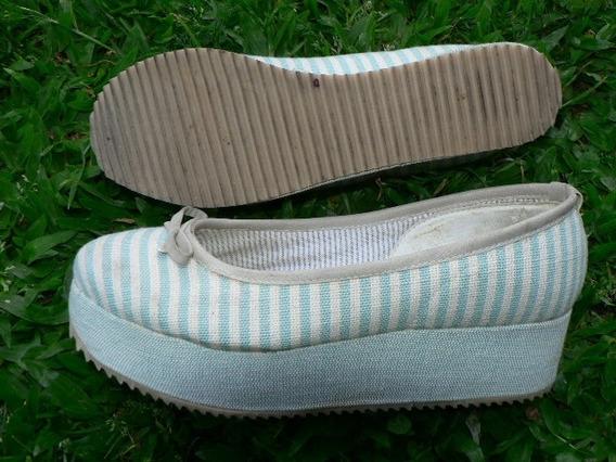 Zapato Plataforma Nuevo Nº 38 Lucerna