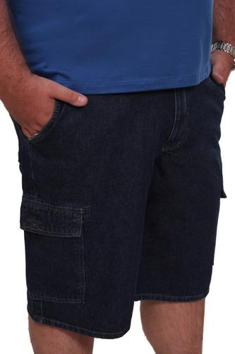 Imagem 1 de 6 de Bermuda Jeans Masculina Plus Size Até Nº 68 Tamanho Grande