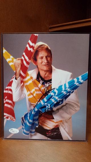 Robin Williams Autografo Foto 8x10 Puladas Certificado Jsa