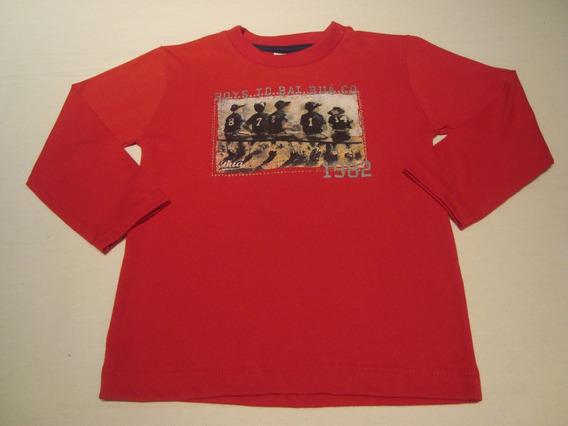 Blusa Infantil Bebê Manga Longa Vermelha - Buá