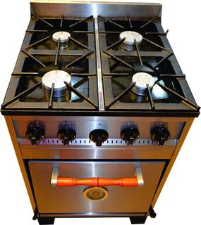 Cocina Industrial Familiar Tecno 4h 57cm. Acero Inoxidable