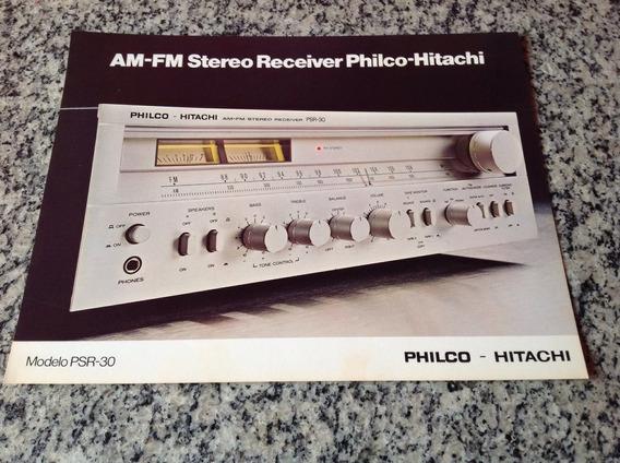 Folheto Propaganda Antiga Stereo Receiver Philco Psr30 Am Fm