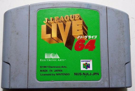 [n64] Jogo J. League Live 64 - Semi-novo