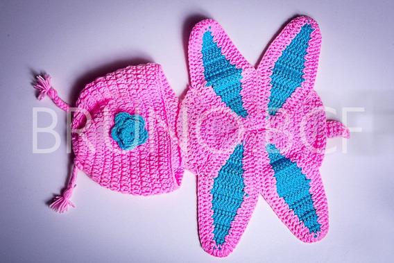 Roupa Croche Newborn Borboleta