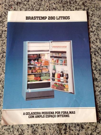 Folheto Propaganda Antiga Geladeira Brastemp 280 Litros