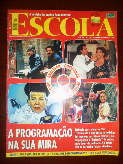 Revista Nova Escola - 12/1998 - Capa Xuxa, Castelo Ratimbum