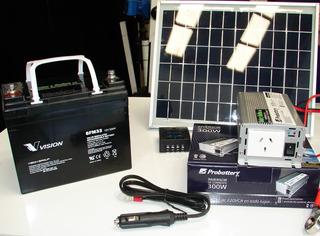 Generador Fijo O Portatil Panel Solar Bateria Inversor Contr