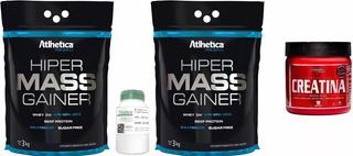 2x Hipercalórico Mass Gainer 3kg + Creatina 300g + Dilatex