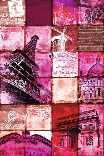 Poster Importado De Paris - Patchwork - 60 X 90 Cm
