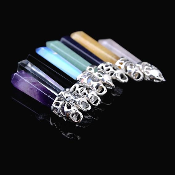 Cordão Colar Pingente Pêndulo Cristal Diversos Tipos