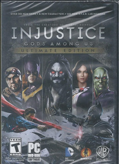 Injustice Ultimate Edition Pc Dvd Disco En Físico Importado