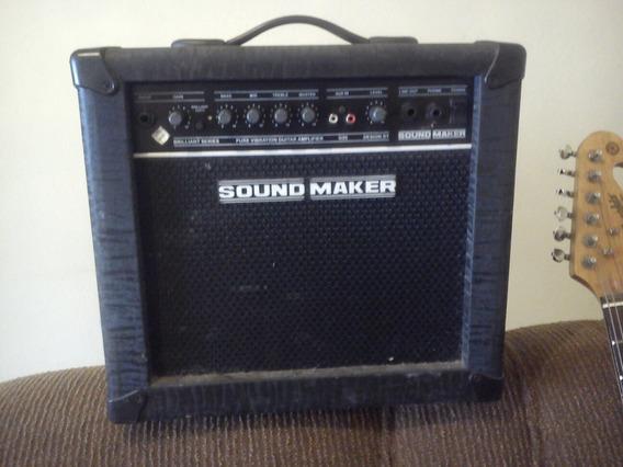 Caixa Som Amplificada Guitarra Sound Maker Gt30 30w Rms