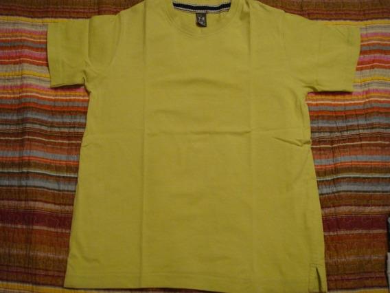 Zara Kids Blusa Camiseta Camisa Basica Tam. 7-8 Anos Verde