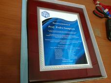 Placa De Reconocimiento, Medallas, Trofeos Premios. Calidad