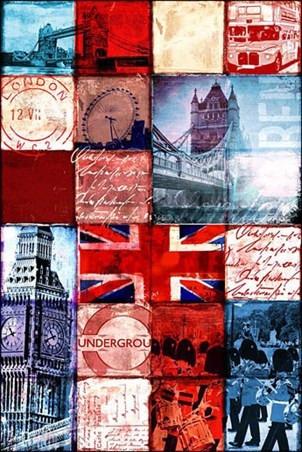 Poster Importado De Londres - Patchwork - 60 X 90 Cm