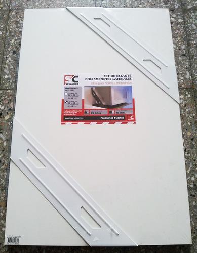Estante Blanco Multiusos Y Soporte Microondas 52x36 Con Tarugos Y Tornillos Todo Para Instalar
