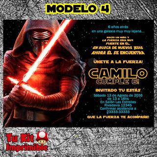 Invitación Imprimible Star Wars El Despertar Personalizada!