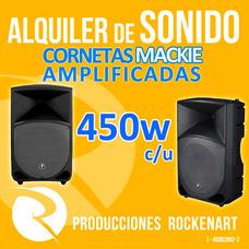 Alquiler Cornetas Amplificadas Sonido Fiestas Dj - Rockenart