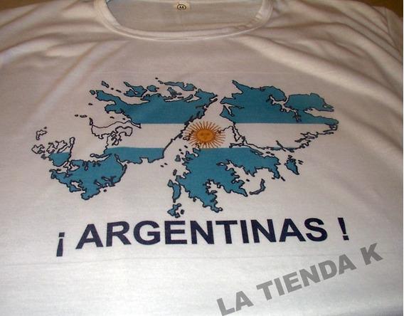 Remeras Estampadas Las Malvinas Son Argentinas