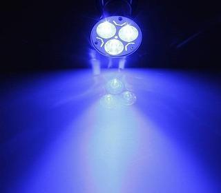Caja X 12 Lámparas Led Gu10 3w 220v Azul Decoración Fiestas