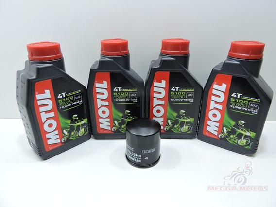 Kit Troca Oleo/filtro Fram Kawasaki Z750 Motul 5100 15w50