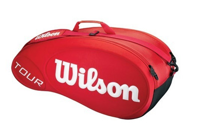 Raquetero Wilson Tour Molded 6pk (rojo) /tennisheroshop