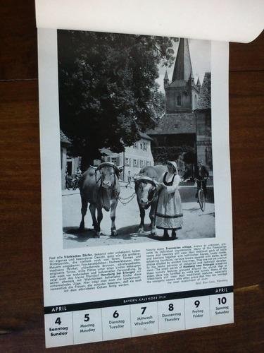 Antiguo Almanaque Fotográfico Alemán: Bayern - Kalender 1954