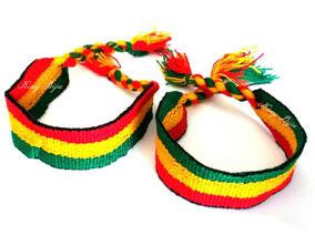 Atacado 12 Pulseiras Reggae Unissex 2cm