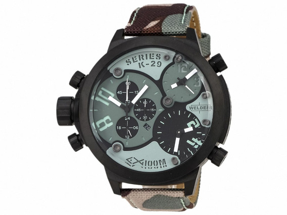 Exclusivo Reloj Welder By U-boat K29 3 Zonas Horarias