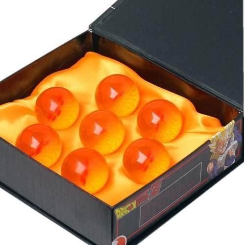 Siete Mini Esferas De Dragon Con Caja Exhibidor 3.4 Cm