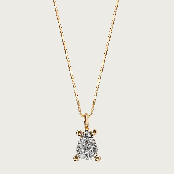 Gargantilha Em Ouro 18k Com Diamante