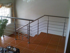 Escaleras - Barandas - Posamanos - Acero Inoxidable Cristal