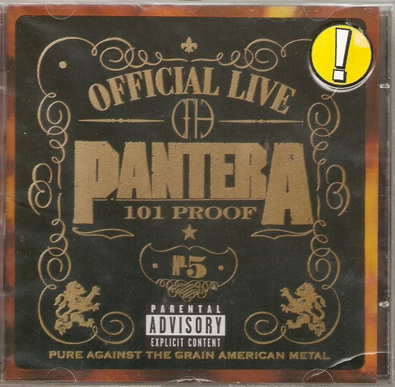 Cd Pantera - Official Live - Novo***